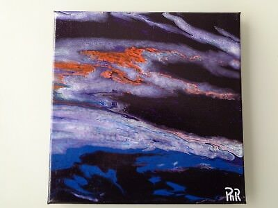 "Peinture abstraite - abstract painting art - original - signé - ""Ph R"" 30x30 cm"