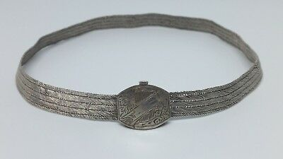 ANTIQUE ORIGINAL OTTOMAN SILVER HAND-KNITTED NECKLACE 32gr