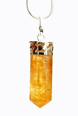 Reiki healing energy charged natural citrine crystal pendant inc reiki healing energy charged natural citrine crystal pendant inc silver chain aloadofball Image collections