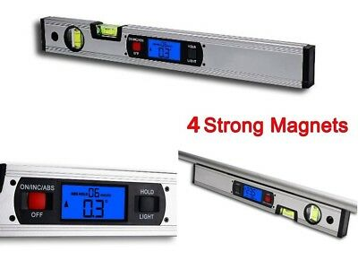 Digital Magnetic Level Electronic Smart Tool LCD Measure Slope Angles Tools USA