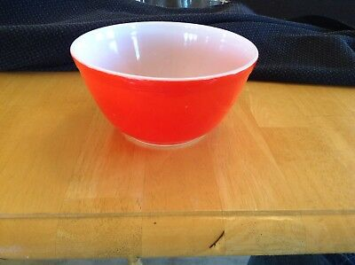 4 Old Vintage Pyrex Colored Mixing Bowls Orange Red Yellow Blue USA ...