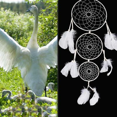 Handmade Dream Catcher White Feather Home Wall & Car Hanging Decoration Ornament