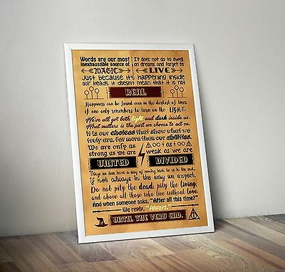 Harry Potter Quotes To Live By Poster A2 - Always - Quote - Typography