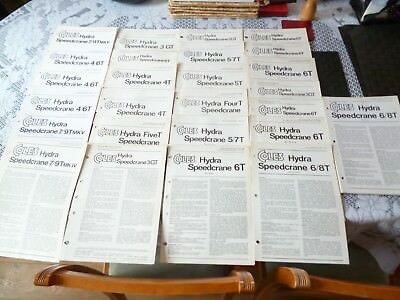 35 Coles Cranes Speedcrane Very Assorted/mixed Technical Specification Leaflets
