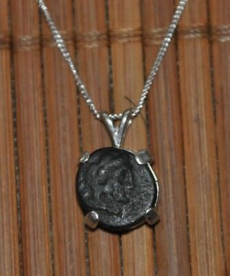 Alexander The Great Authentic Ancient Coin Pendant 925 Sterling Silver Necklace