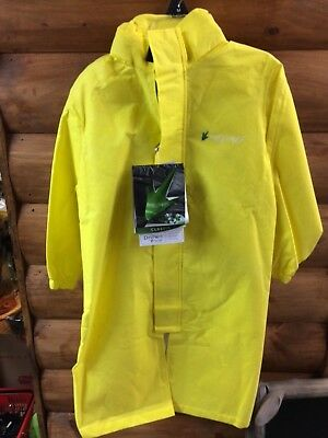 Frog Toggs Poly Woggs 3/4 Rain Jacket Yellow Youth Med or Lrg NWT Free Ship