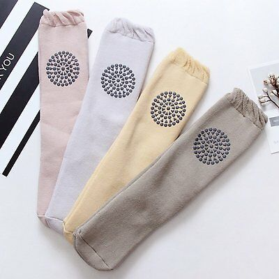 Toddler Baby Non Slip Knee Pads Socks Thick Warm Lace Knee High Stockings 6-12 M