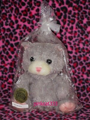 The Original Ozark Critter~Gray & Pink Cat Kitty~Wax Dipped Mulberry Scented~N
