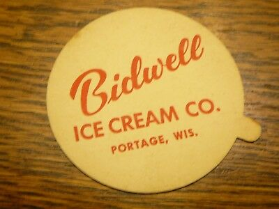 Vintage Bidwell Ice Cream Co. Container Lid Portage Wisconsin WI