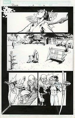 X-Men Rogue #8 Page 6 Original Art Featuring Young Rogue Training By Karl Moline