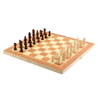 Wooden International Chess Set Board Game 34cm x 34cm Foldable Portable Travel
