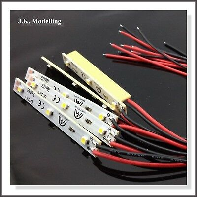 Pre-Wired 3 LED's Strip Light (4pcs) with light holders 12v - Warm White