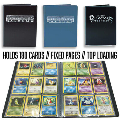Ultra Pro 9 Pocket Collectors Album Blue/Black Holds 180 Cards! Binder/Portfolio