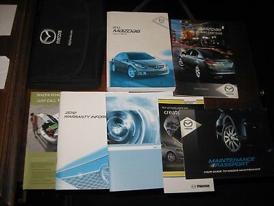 Superb 12 2012 Mazda 6 Owners Manual Set With Case