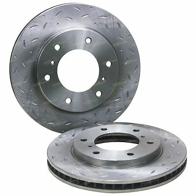 2 Front Slotted + Drilled Disc Brake Rotors Triton ML MN 2007-2014 RWD 4X4 Ute