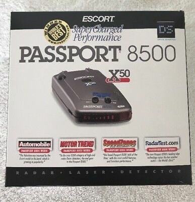 Escort Passport 8500 X50 Radar Detector with Suction mount and Mute Display