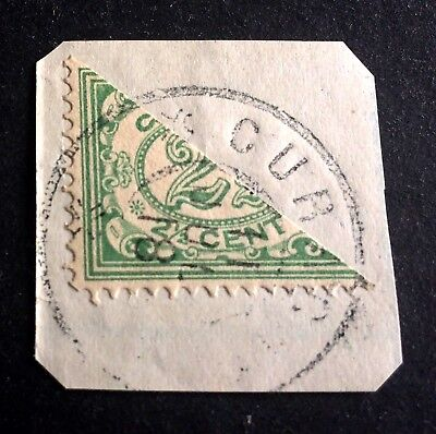 Curacao cut in half before usage 2 1/2 Cent July 1918
