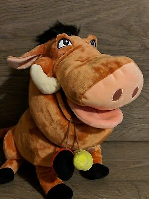 The Lion King Pumba Plush soft toy Authentic Disney Store Stamped The Lion Guard