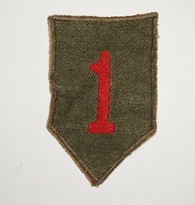 1st Infantry Division German Made Bevo Theater Made Patch WWII US Army P6237