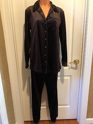 Steena Maternity Cozy Warm Cozy Brown Velour Pant Suit Size S EUC
