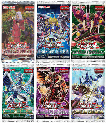YuGiOh! BOOSTER PACKS CHOOSE FROM 13 DIFFERENT PACKS MIX AND MATCH 1ST EDITIONS