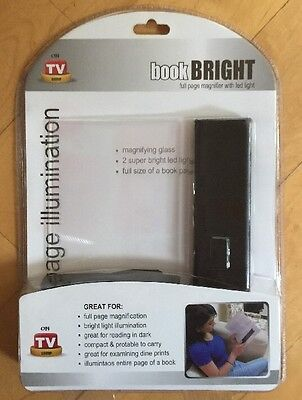 Book  Brite - Ultra Slim Book Light & Magnifier - Magnifies Up To 2X Led Light
