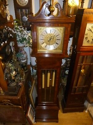 Vintage German Urgos Three Weights Driven Westminster Chimes Grandfather Clock