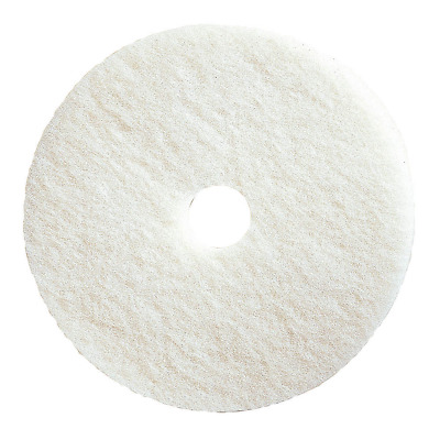 "TOUGH GUY 17"" Polyester Fiber Round Buffing and Cleaning Pad - 4RY25"