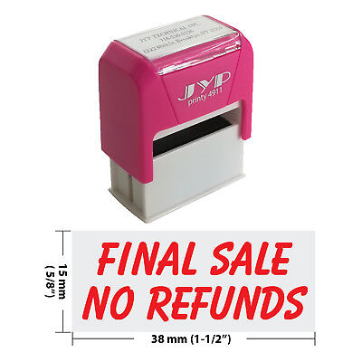 Final Sale No Refunds Self Inking Rubber Stamp