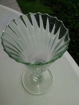 Antique Ribbed Wine Glass with Pontil