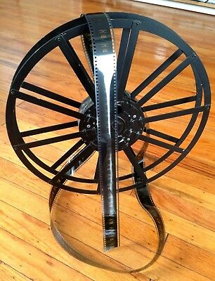 DeVRY 35mm  MOVIE REEL, PAT. RE. #16762 Antique Metal Very Good Condition