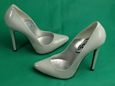 1fdcb049eac STUNNING LOIS POINT Patent Grey, Killer Stiletto Heels! By Schuh ,Size EU,36