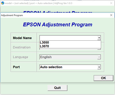 Reset Epson L3050, L3070 100%,Epson L3050, L3070 Adjustment Program