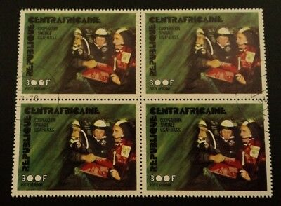 Space block of 4 issue Central African Rep.  cancellation dated 1976  MNH - CTO