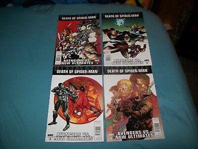 Ultimate Death Of Spider-Man Avengers Vs New Ultimates 1 2 3 4 Newsstand Variant