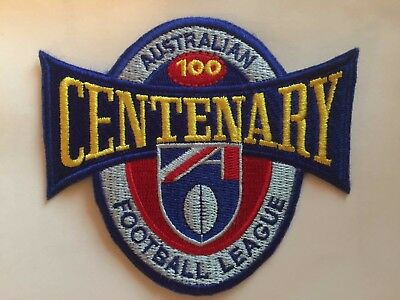 Afl 1996 Centenary Jumper Embroidered Sew On Badge