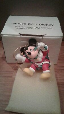 Disney Grolier DCO Mickey Mouse Entangled in Lights Christmas Ornament