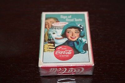 """1959 """"Sign Of Good Taste"""" Drink Coca-Cola In Bottles Full Deck Playing Cards"""