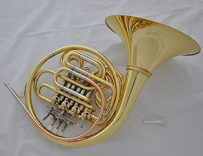 Prof 4 Key Gold Double French Horn F/Bb 12.24' Detached bell Rose brass leadpipe