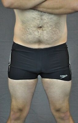 31af5992e4 Speedo Turbo Charge Placement Aqua short Black White Big Mens Aust 14 Swim  Brief