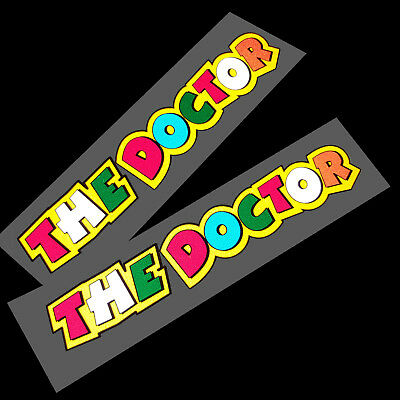V Rossi  46 `the doctor` sticker motorcycle decals  graphics x 2 REFLECTIVE