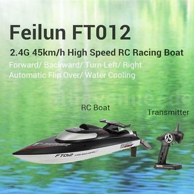 Feilun FT012 2.4G Brushless 45 km/h Wasserkühlung RC Racing Rennboot Boot DE