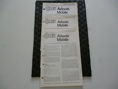 3 Coles Cranes Adonis Mobile Assorted/mixed Technical Specification Leaflets