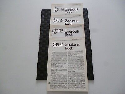 4 Coles Cranes Zealous Truck Assorted/mixed Technical Specification Leaflets