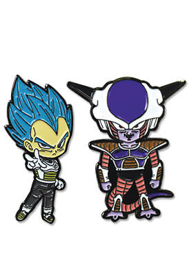 **Legit** Dragon Ball Super SSGSS Vegeta Blue & Frieza Authentic Pin Set #50697