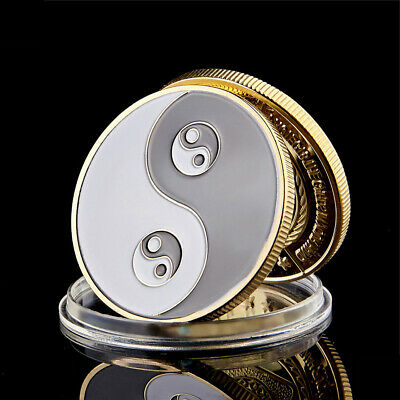 Souvenir Coin Chinese Yin And Yang Eight Diagrams Tai Chi Taoist Chip Coin