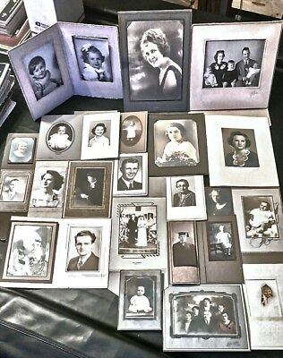 Lot Of 24 Unknown Mysterious Vintage/antique Photographs Beautiful & Creepy?