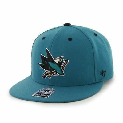 RR BNWT 47 Brand 47' OFFICIAL NHL San Jose Sharks SNAPBACK CAP One Size Mens