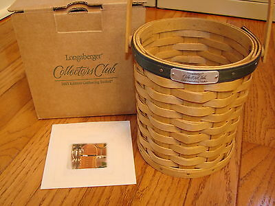 LONGABERGER Commemorative 2005 Edition Collectors Club GATHERING BASKET *New*