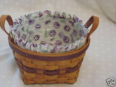 Longaberger 1992 PANSY Basket Set Grandma Bonnie May Series Collection